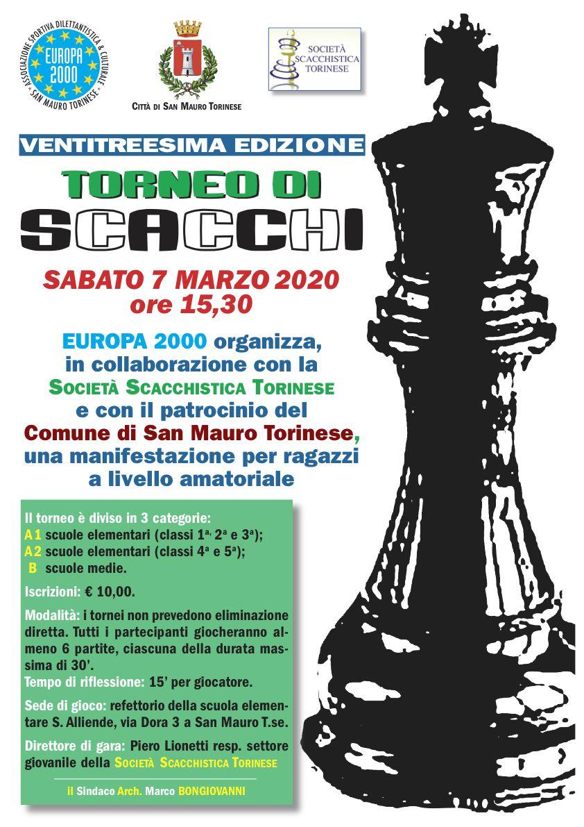 Torneo Scacchi - 7 marzo 2020 - Europa2000