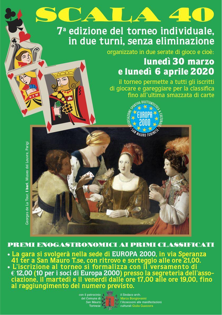 Torneo Scala 40 - 30 marzo e 6 Aprile 2020 - Europa2000 San Mauro Torinese